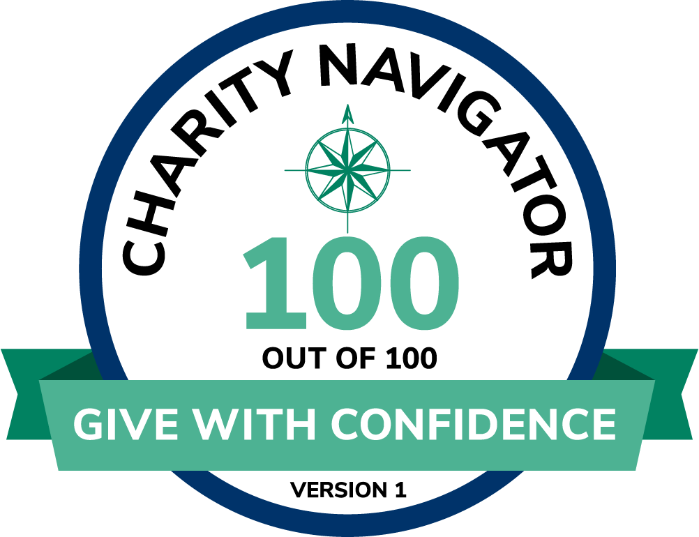 Charity Navigator 100 out of 100 Seal